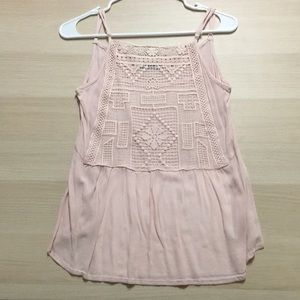 Cotton On Light Pink Detailed Strap Top